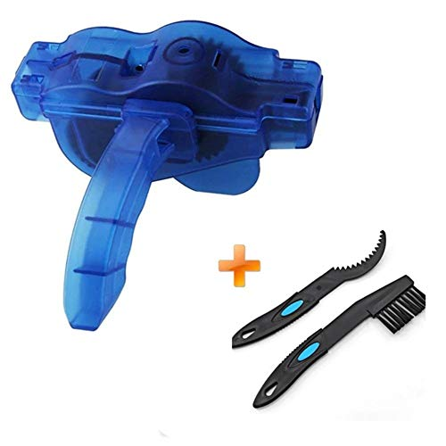 YNGDJH Portable Bicycle Chain Cleaner Bike Brushes Scrubber Wash Tool Mountain Cycling Cleaning Kit Outdoor Accessory (Color : A)