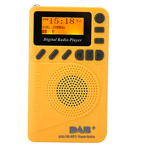 ASHATA Radio de Bolsillo portátil Dab P9, Radio Dab Dab FM Recargable...
