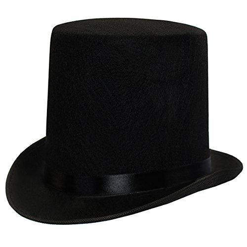 "Funny Party Hats Dress up Hats for Adults Costume Party Hats for Men Women Unisex by (Black 7"" Top Hat)"