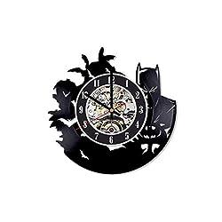 Batman Record Clock, Batman Wall Clock, Batman Room Decor, Batman Vinyl Clock, Batman Batman LP Clock, Batman Gifts for Men