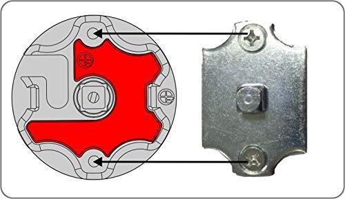 heicko e-ast GmbH Adapter zur Umrüstung von Clipskopf in Vierkant-Kopf bei Rollladenmotoren (1 ST)