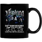 N\A Venom 03Rd Anniversary Grazie per i ricordi Tazza da caffè in Ceramica 11Oz Regali Personalizzati per Genitori, Ufficio per Amanti, Regali di San Valentino Entrambi i Lati sensibili al Calore