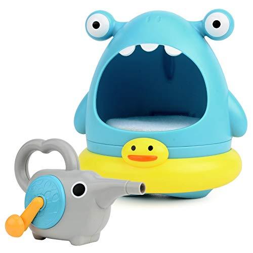 Upgrade Bath Toy Bubble Bath manuell Hersteller für Badewanne, niedliche Hai Bubble / Crab-Badewanne Spielzeug für Kleinkinder, Blase Maschine für Kinder Alter 3/4/5/6 mit mehr Sicherheit und Interakt