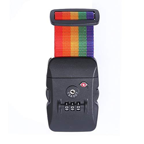 Logic(ロジック) スーツケースベルト TSAロック ベルト (全12色 レインボー) [盗難・紛失・荷崩れ防止] スーツケース用 鍵付き ダイヤルロック タスロック 長さ調節可能
