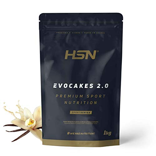 Tortitas Proteicas de HSN Evocakes 2.0 | Protein Pancake | Preparado de Tortitas de Avena + Claras + Whey | Tortitas Fáciles y Rápidas de Hacer | Apto Vegetariano | Sabor Vainilla, 1Kg