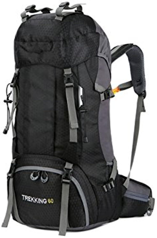 Flowerrs Leicht Große Kapazität Bergsteigen Tasche 60L Wasserdichte Outdoor-Reise-Rucksack mit Regenschutz (rot) für draußen B07GDLP227  Guter Markt