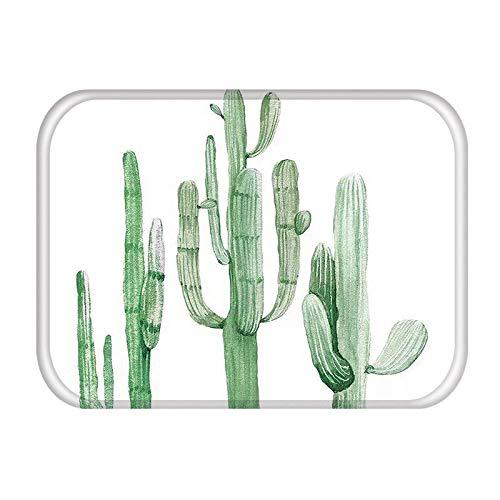 HLXX Alfombra de Puerta de Entrada de Cocina de Cactus, Alfombrillas Coloridas para Interiores, Alfombrillas Antideslizantes para Cocina, Alfombrilla para Puerta A15 40x60cm