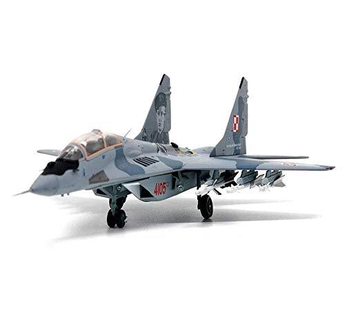 Heinside Regalo Militar Modelo de Avión, Escala 1/72 Polaco Fuerza Aérea MIG-29UB Combate Aleación Coleccionables y Juguetes para Niños Regalos Sorprendentes