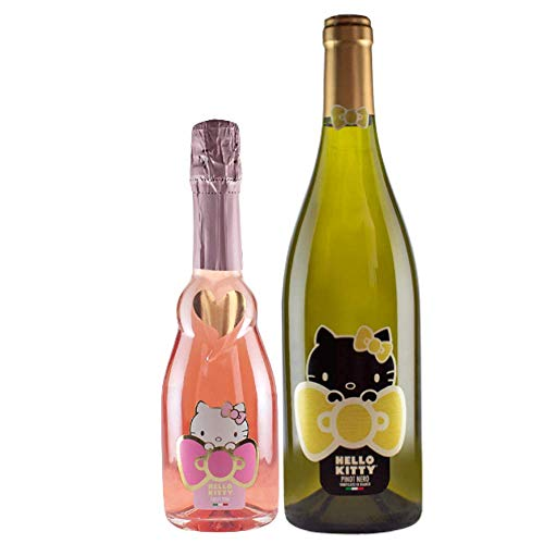 Sekt Hello Kitty Rose wein Sparkling Rose Wine Pinot Nero White Wein -Torti wein Award Winning Winery Organically Cultivated Hand Harvested Grapes