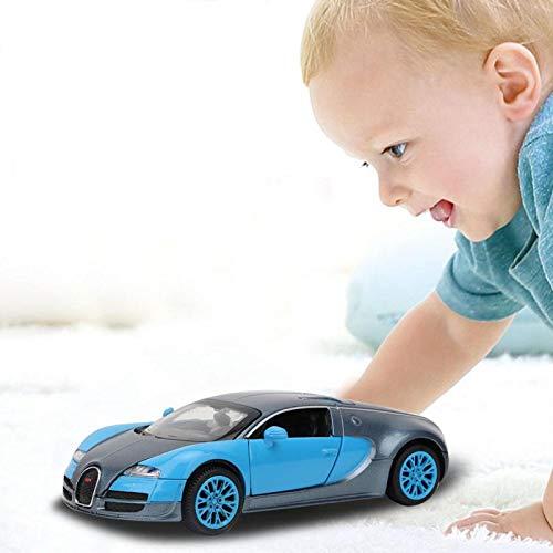 Modelo de Coche de Color Brillante para Bugatti Vega Pull Back Toy Car