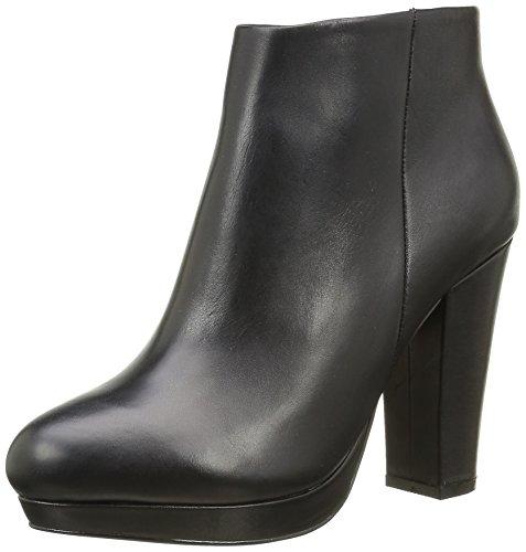 Buffalo London Damen 410-10645 L Silk Leather Kurzschaft Stiefel, Schwarz (Black 01), 39 EU