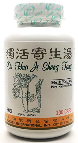 Du Huo Joint Relief Dietary Supplement 500mg 100 Capsules (Du Huo Ji Sheng Tang) F03 100% Natural Herbs