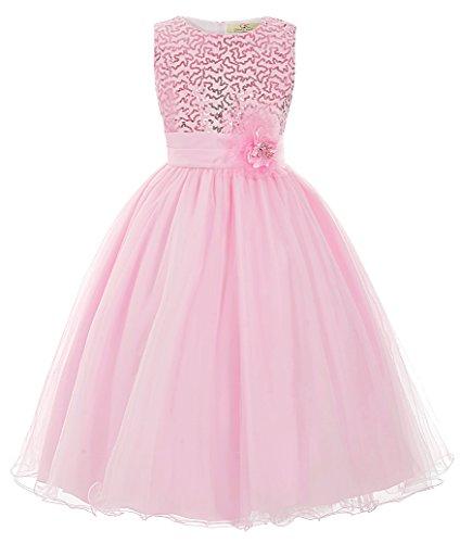 GRACE KARIN Maedchen Prinzessin Hochzeit Party Festzug Kleid Champagner ,5 jahre,  Rosa