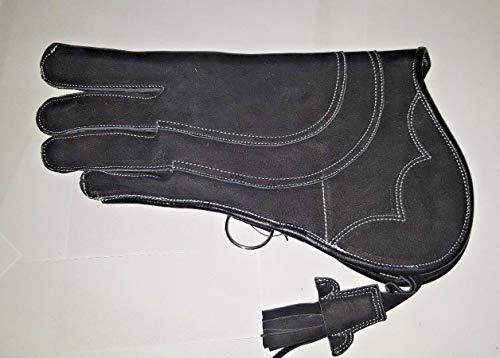 Falconry Handschuh, 3-lagiges Nubukleder, 33 cm, 3-lagig, Super Jet Black M