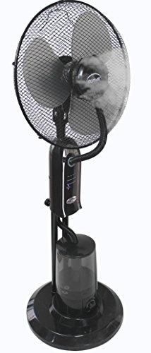 Domair MF25N - Ventilatore con nebulizzatore, 40cm, 75W, Nero