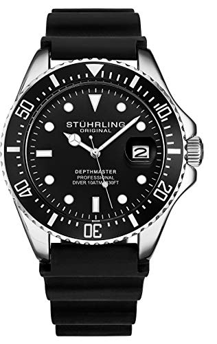 Stuhrling Original Dive Watch - Waterproof Watch for 330 Ft. with Screw Down...