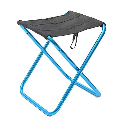LFLDZ Reisen Ultralight Klappstuhl, Superhard High Load Outdoor Camping-Stuhl, tragbarer Strand Wandern Picknick-Sitzfischereiwerkzeuge Stuhl,Blau