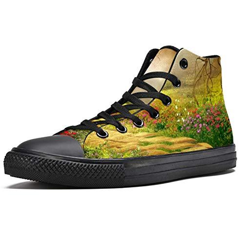 LORIES - Castillo con jardín, zapatillas altas de tela para hombre, (multicolor), 35.5 EU