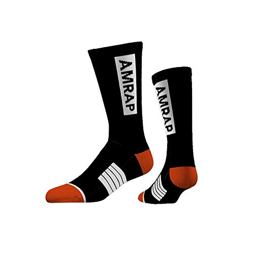 AMRAP Core Crew Training Socks with Anti-Slip Grip Performance Cushioning /& Memory-Fit Technology