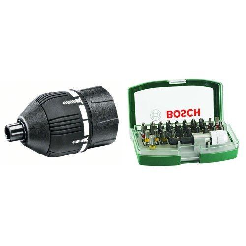 Bosch HomeSeries per Ixo, 1600A001Y5 + Bosch 2607017063 Rainbow Set 32 Inserti Avvitamento