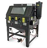 Cabine de sablage professionnelle SBC 1200 l avec aspiration – Noir – 1200 L – Sableuse Cabine de sablage à rabat industriel Sable Sable Sableuse Sableuse