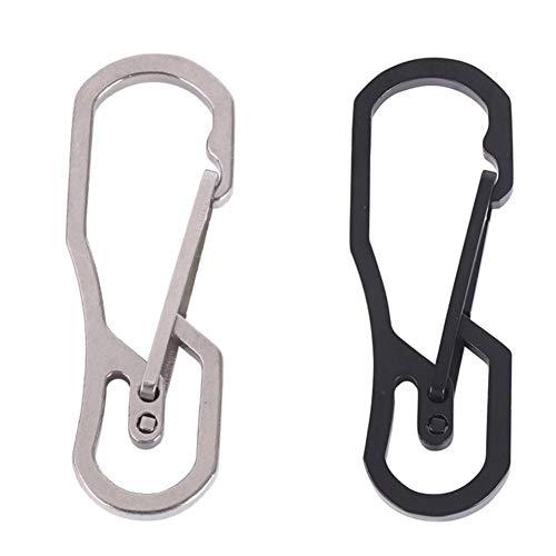 Titan Schnellspanner Schlüssel Chian Haken Titan Karabiner Schlüsselring mit leicht und super stark, 2 Stück