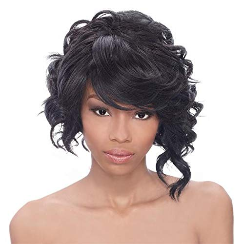Outre Synthetic Lace Front Wig Shorty Color 1B(Off Black)