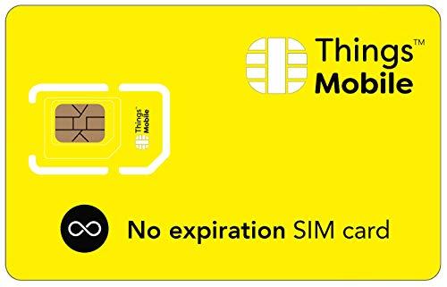 SIM SENZA SCADENZA Things Mobile con copertura globale e rete multi-operatore GSM/2G/3G/4G LTE,...