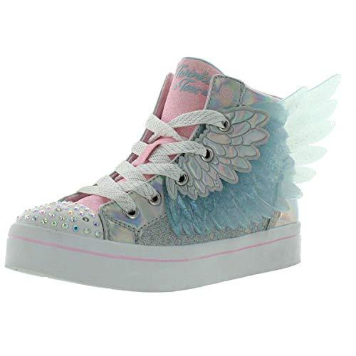 Skechers girls Twi-lites- Unicorn Wings Sneaker, Silver Pink, 13 Little Kid US