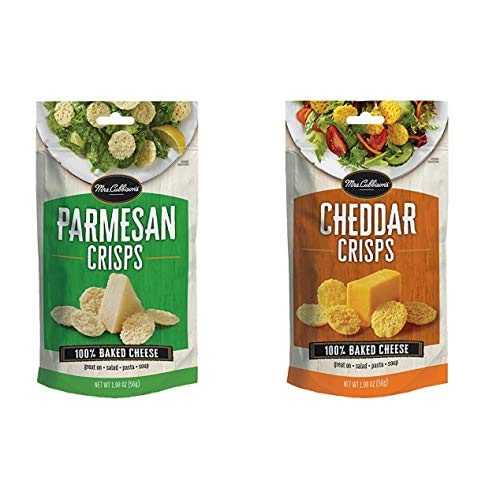 Mrs. Cubbison's Cheese Crisps, Parmesan, 1.98 Ounce & Cheddar Cheese Crisps, 1.98 Ounce