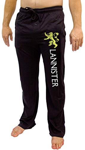 Game of Thrones House of Men - Pantalón Pijama para Adulto, Color Negro Negro Lannister L