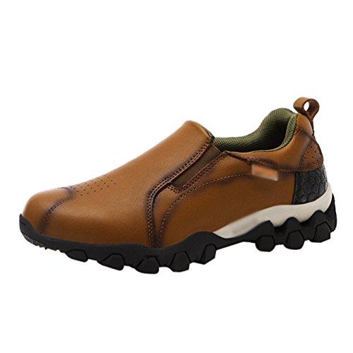 CHENGYANG Chaussures Trekking Homme Hiver Imperméable Randonnée Outdoor Sneakers Chaussure de Marche (Marron, 38 EU)