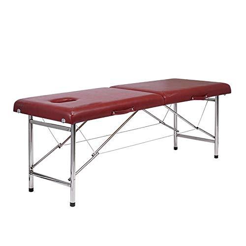 MGW Table de lit de Massage lit de beauté Portable avec Tuyau en Acier épaissi Portant Poids 600...