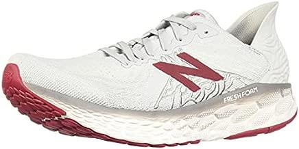 New Balance Men's Fresh Foam 1080 V10 Running Shoe, Summer Fog/Neo Crimson, 10.5 Wide