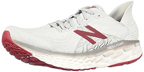 New Balance Men's Fresh Foam 1080 V10 Running Shoe, Summer Fog/Neo Crimson, 10.5