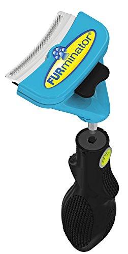 FURminator FURflex, Fellpflegebürste für mittelgroße Hunde, deShedding-Tool zur Entfernung der Unterwolle, Größe M