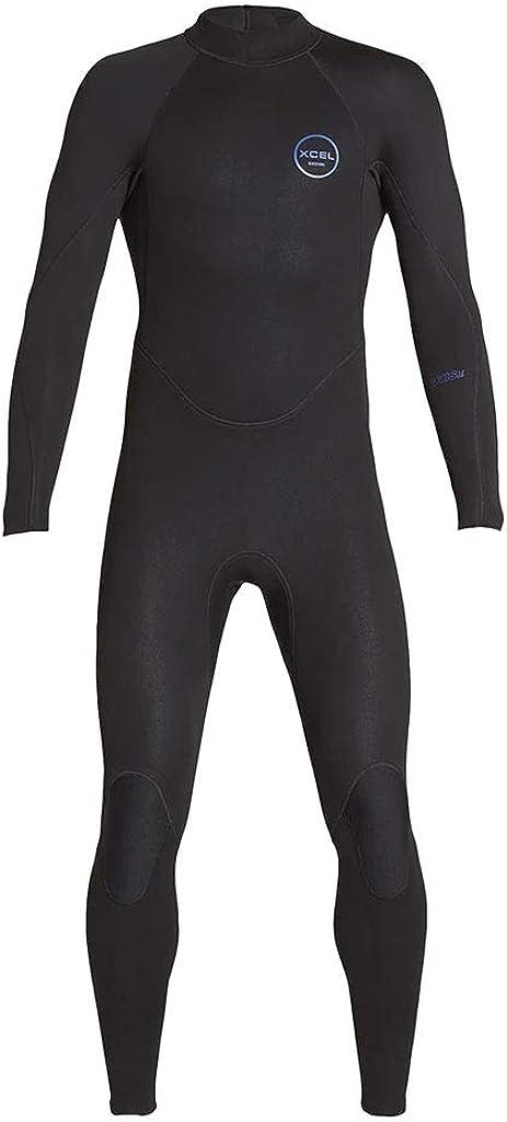 XCEL Mens Axis Flatlock Long Sleeve Back Zip 3//2mm Fullsuit