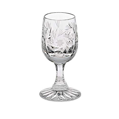 CRISTALICA Likörglas Schleuderstern 45ml Schnapsglas Bleikristall Likörglas Shot Stamper