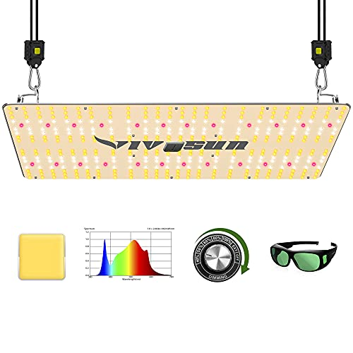 VIVOSUN Latest VS2000 LED Grow Light with Samsung LM301H Diodes & Brand Driver Dimmable Lights Sunlike Full Spectrum with Grow Room Glasses for Indoor Plants Seedling Veg and Bloom Plant Growing Lamps