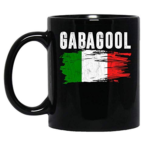 Gabagool Capicola Meat New Jersey Italian Pride Flag Ceramic Mug Graphic Coffee Mugs Black Cups Tea Tops Custom Novelty 11 Oz 15 Oz