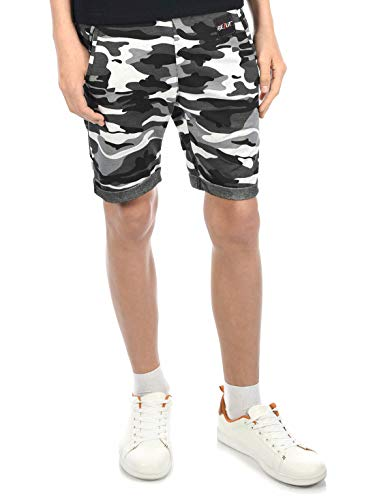 BEZLIT Jungen Kinder Shorts Kurze-Hose Bermuda Capri Sommer Jungs Strech 30046 Camouflage-Schwarz 128/134