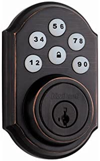 Kwikset 92640-001 Contemporary Electronic Keypad Single Cylinder Deadbolt with 1-Touch Motorized Locking, Satin Nickel Schlage BE365CAM619 Be365 Camelot Keypad Deadbolt, Satin Nickel August Wi-Fi Smart Lock, 4th Generation (Silver) AmazonBasics Traditional Electronic Keypad Deadbolt Door Lock, Keyed Entry, Satin Nickel Kwikset 909 SmartCode Electronic Deadbolt featuring SmartKey in Venetian Bronze