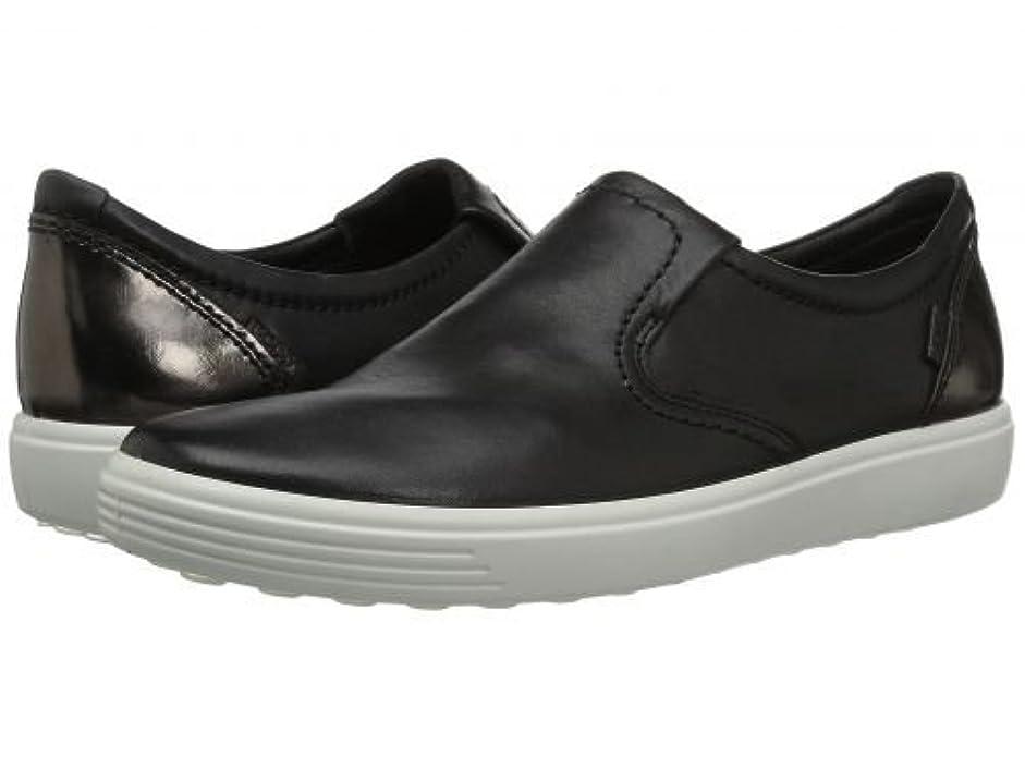 カテナ瞑想する取るに足らないECCO(エコー) レディース 女性用 シューズ 靴 スニーカー 運動靴 Soft 7 Slip-On II - Black/Black/Dark Clay Cow Leather/Cow Nubuck [並行輸入品]