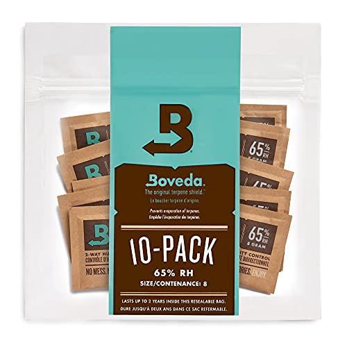 Boveda 葉巻/タバコ用 65-RH 2-湿度 コントロール サイズ 8 使用 最大 5 葉巻 特許取得 技術 シガー ヒュミドール 10-カウント 再密封 バッグ
