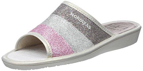 Nordikas 3034, Zapatillas de Estar por casa con talón Abierto Mujer, (Multicolor), 38 EU