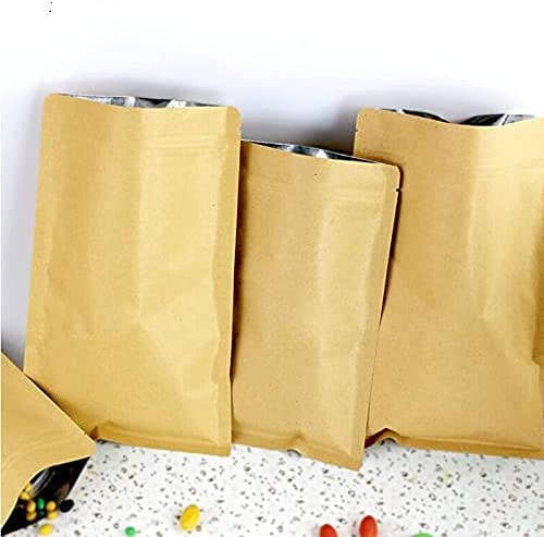 Crysdaralovebi 100pcs 12 Size Directly managed store Kraft Seattle Mall Lock Pouch Zip Paper Doypack