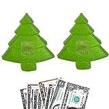 Biblebanz Merry Christmas Pine Tree Shaped Set of 2 Money Soap Jackpot Cash in Every Bar Practical Joke Gag Gifts