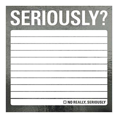 Knock Knock Seriously? Metallic Sticky Notes, 3 x 3-Inches (1-Count) Photo #2