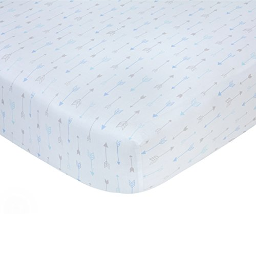 Carters 100% Cotton Sateen Fitted Crib Sheet - Blue Arrow