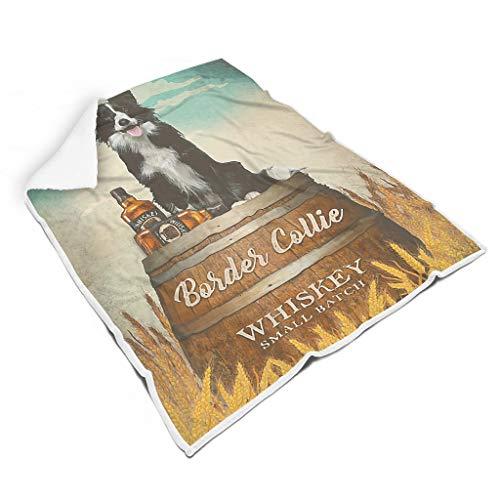 Ainiteey Border-Collie-Whisky Chique verschillende patronen deken voor kamer herfst winter lente voor baby prachtige stijl